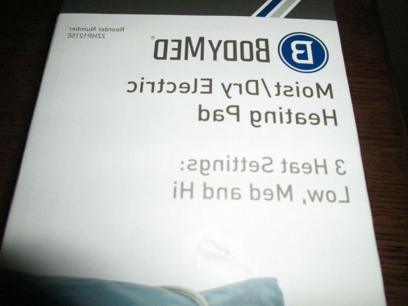 BODYMED MOIST/DRY ELECTRIC PAD SETTINGS*