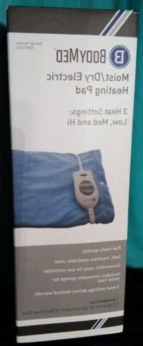 BodyMed Moist/Dry Electric Heating Pad Warm Relief Muscle/Jo