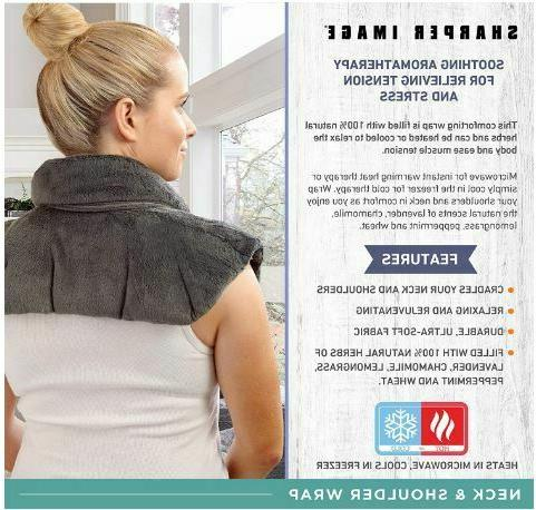 Sharper and Shoulder Wrap Microwavable Heating Pad Herb