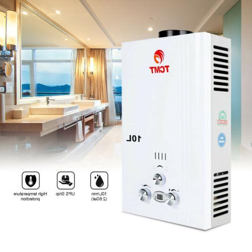 10L Tankless Hot Water Heater Propane Gas LPG Instant On Dem
