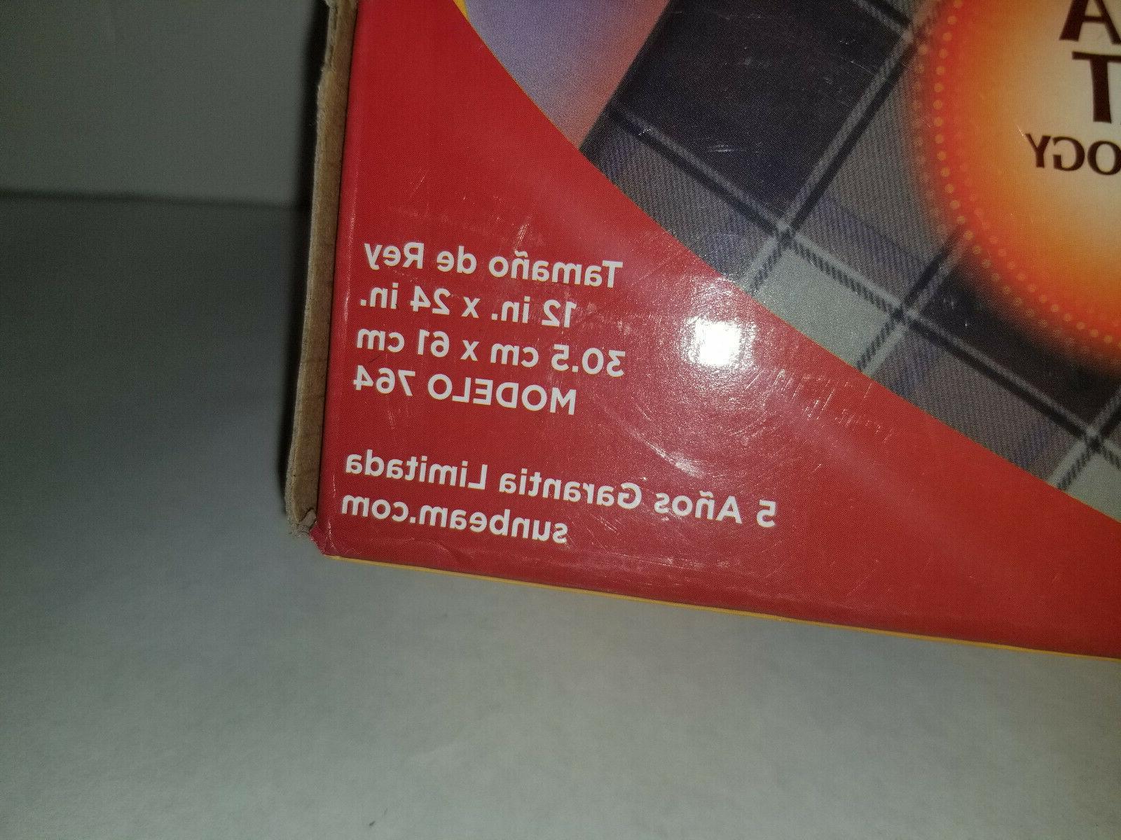 NEW Sunbeam Moist/Dry Heating UltraHeat Technologymodel 764