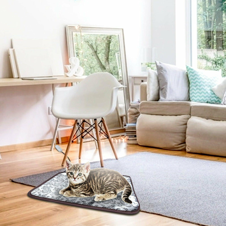 Pet Heating Pad Cat Dog Bed Mat Steel Cord