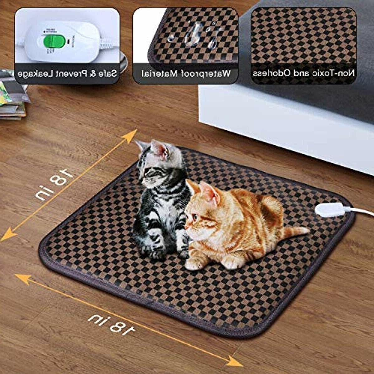 Pet Heating Cats Heater Electric Heated Pad