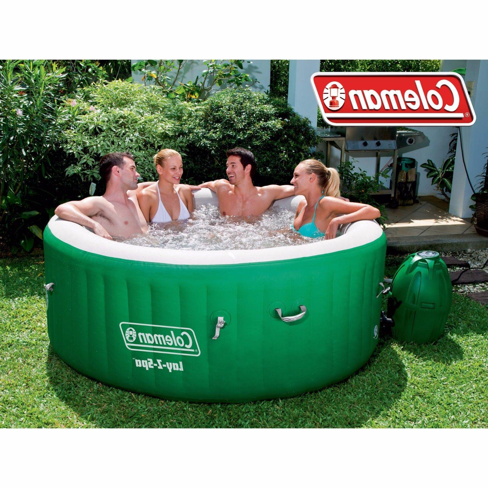 Portable Tube Coleman Lay-Z Massage Relax Outdoor 4-6 People