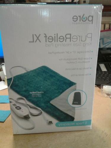 PureRelief XL  King Size Heating Pad with Fast-Heating Techn