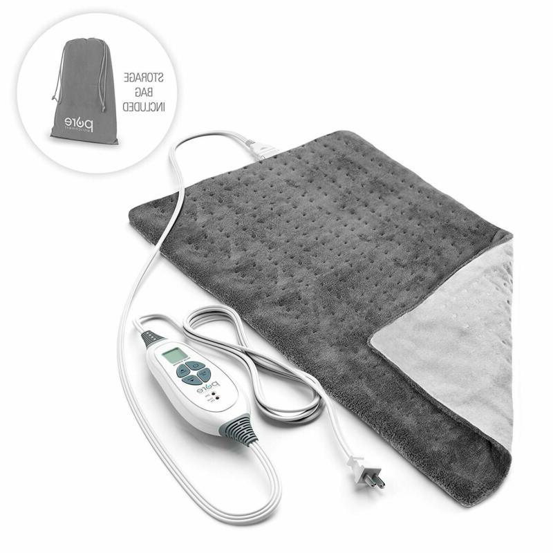 purerelief xl size heating pad charcoal gray