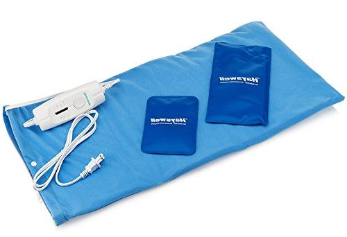 Rapid Pain Heating Pad with bonus pack cold heating pads for pain for cramps. pad with shut off. Heating &