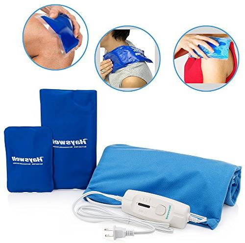 Rapid Pain Relief Pad with pack heating pads for back pain & heating for pad shut off. &