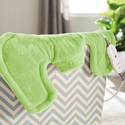 Sunbeam Renue Neck and Shoulder Wrap, Green Heating Pad,