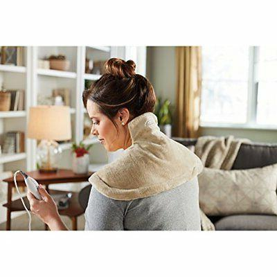 Sunbeam Tension Relief Heating Neck Shoulder Electric Wrap