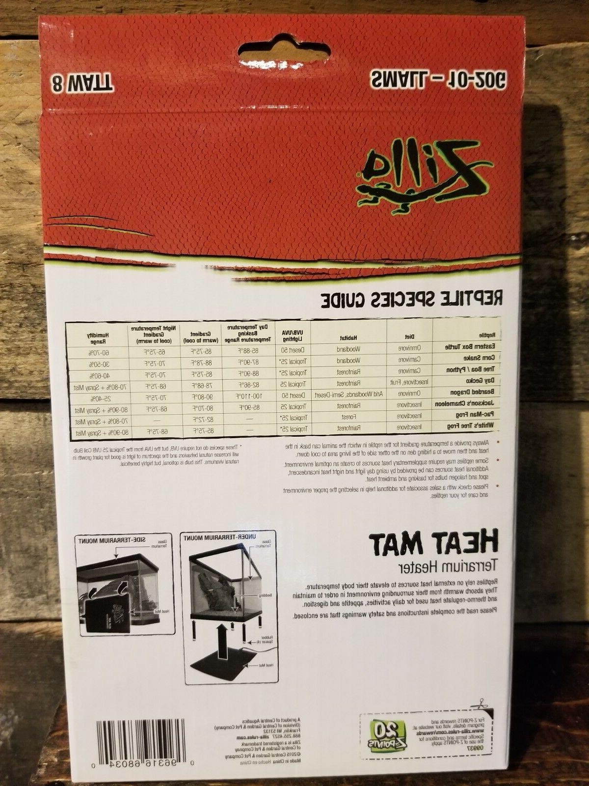"""Zilla Reptile Small Heating Watt 6"""" x 8"""" 10-20 Gallon"""
