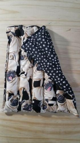 "Rice-flax seed therapeutic heating/cooling pad 12""x 12"" pugs"