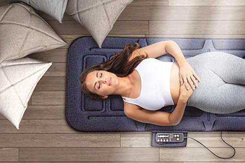 Full Massage 10-Motor Vibrating Heading Mattress Pad Neck, Hips, Area, Legs and Soothing Body Relief