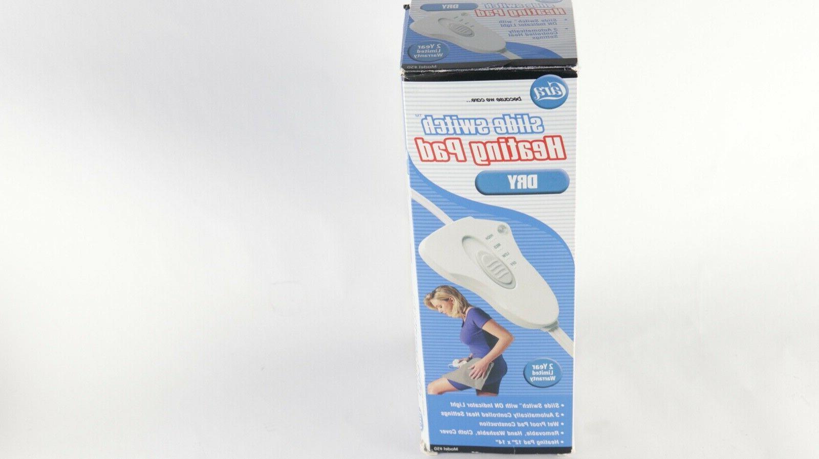 slide switch heating pad dry model 50