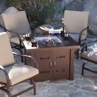 Patio Propane Fire Pit Table Outdoor Steel Gas Burner Garden