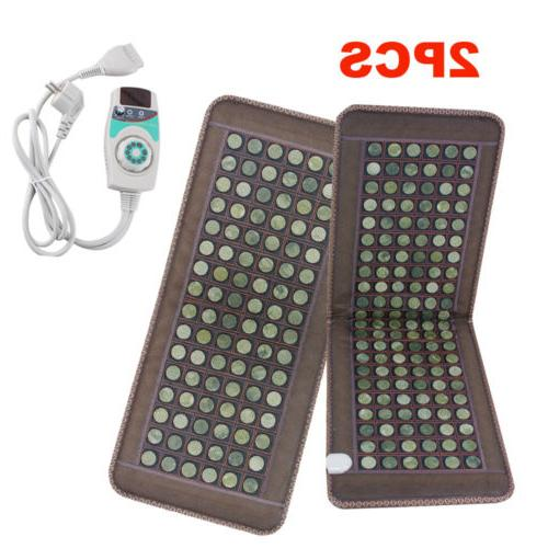 2PCS Stone heating mat Tourmaline Natural Jade Negative Ions