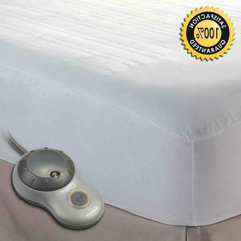 Sunbeam Heated Mattress Pad   Polyester, 10 Heat Settings, K