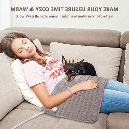 Blusmart Super Heating with Fast-Heating Technology Neck Shoulder and Pain 6 Heat Setting Auto-Off Timer & PE Storage Bag