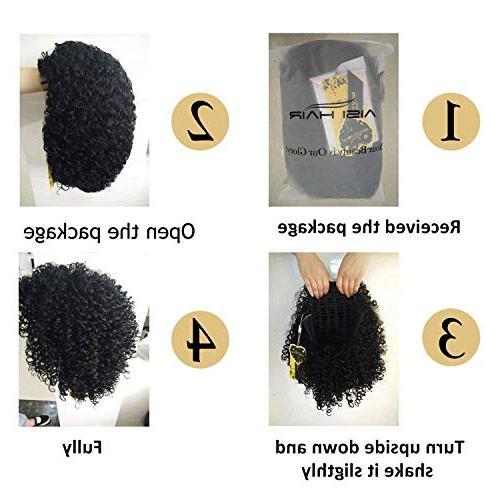 ADLISA Hair for Woman Kinky Jet Fiber Hair