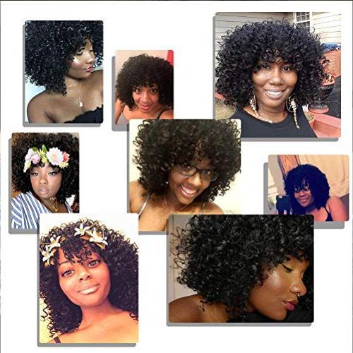 CrazyTiger Hair Woman Jet Black Fiber Natural Wig
