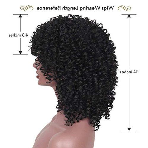 CrazyTiger Hair Black Woman Short Jet Heat Resistance Fiber Natural