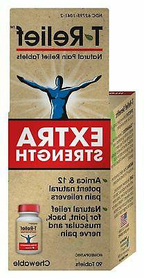 T-Relief Extra Strength Pain Relief Tablets - Homeopathic Fo