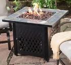 Patio Propane Fire Pit Table Tile Top Gas Burner Outdoor Gar