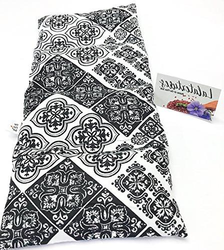 Unscented, x Heating Hot/Cold Pack. Black and White Medallion