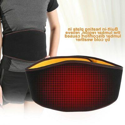 USB Back Heating Brace Pain Relief Muscle Waist Care US