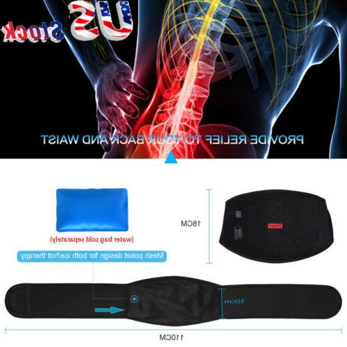 back support belt waist heating pad cold