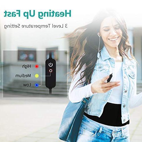 USB Far Portable Waist Heating Pad W/Graphene Fast Heating Settings, for The Back Abdominal Arthritic Relief