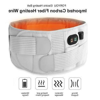 New Wireless Belt Heating Compresses+Vibration+Moxa Waist