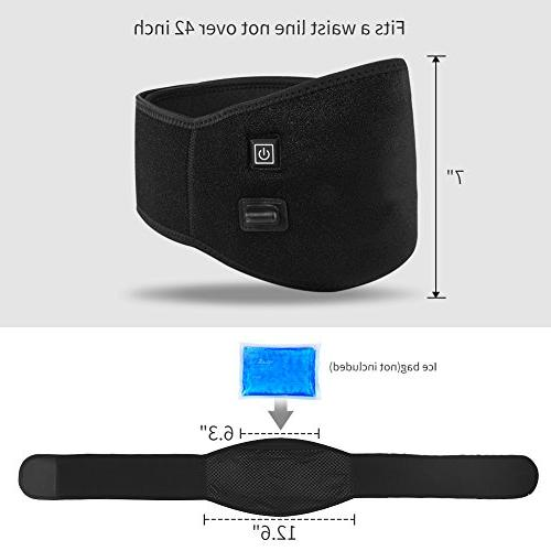 Waist Heating Belt Pad, Heat Therapy Wrap for Lumbar Strains, Sprains, Back Pain Belly Warmer Band Abdominal Cramps, Women