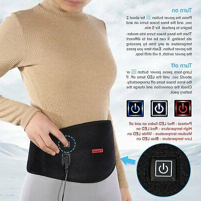 USB Heating Lumbar Brace Support Therapy Black