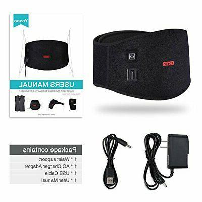 USB Lumbar Therapy Pad Black