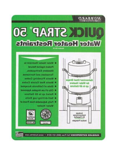 "Quick Strap Water Heater Restraints 80 Gal. 1-1/4 "" X 2-1/2"