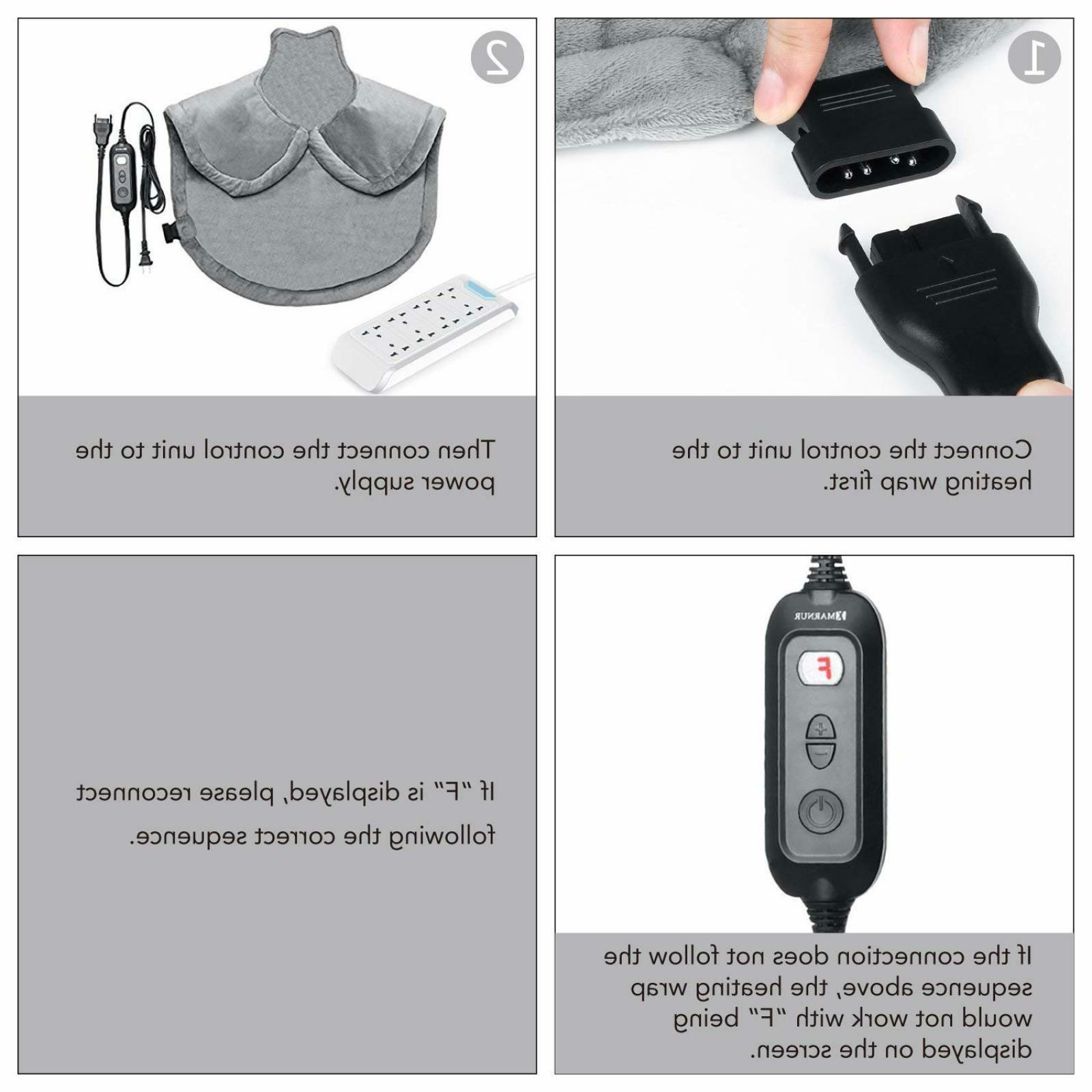 Electric Pad with Therapy Neck Shoulder and Back NEW