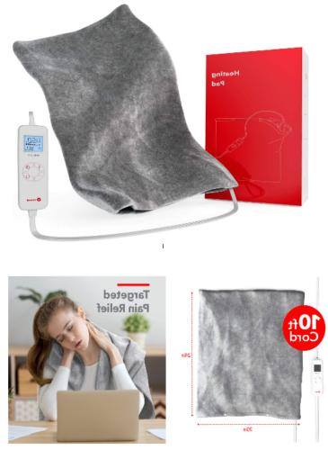 xl heating pad back pain cramps muscle