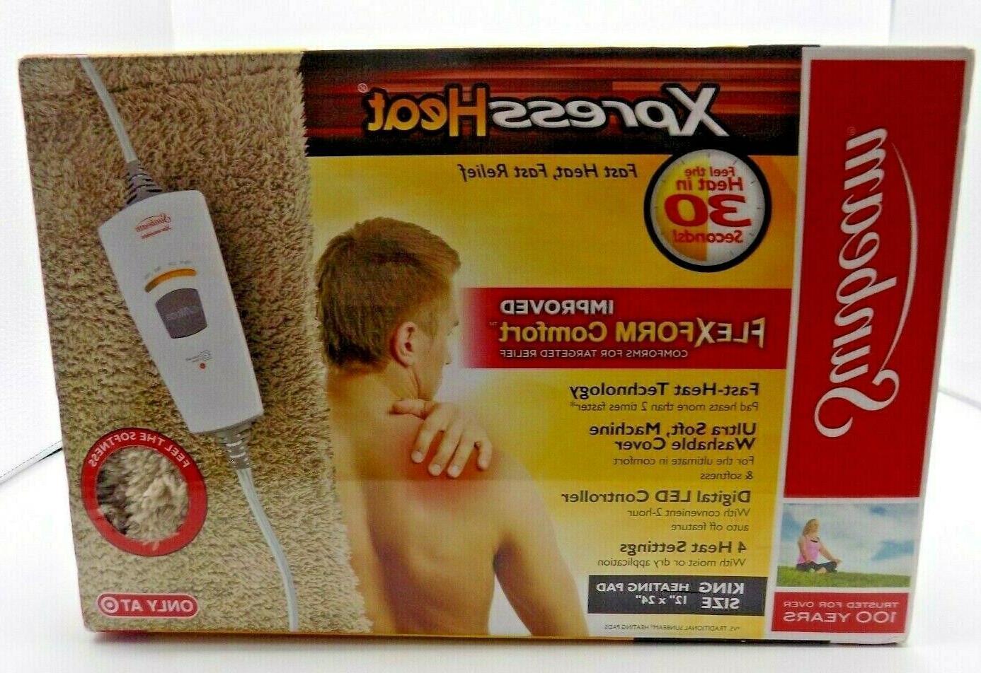 xpress heat fast heating pad xlarge 12