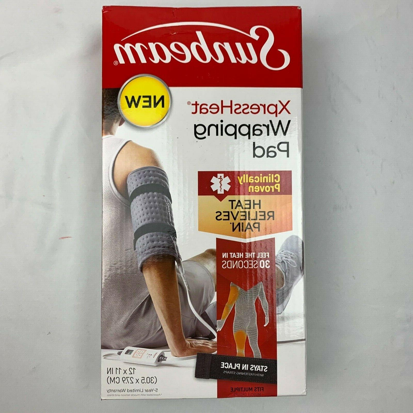 xpressheat wrapping heat pad with fastening straps