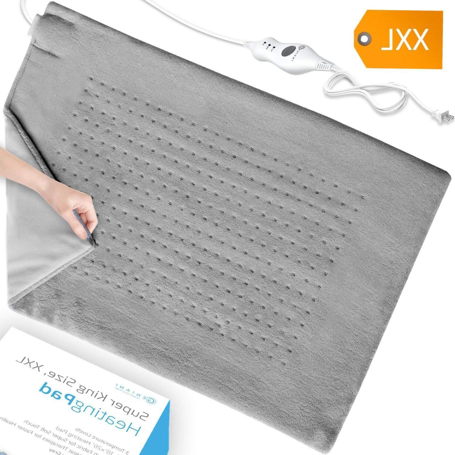 XXL Heating Pad - Electric Heating Pad for Moist and Dry Hea