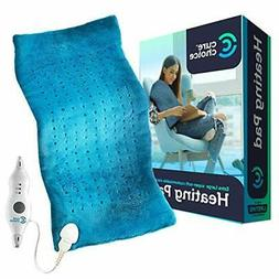 Cure Choice Large Electric Heating Pad for Back 1 Count , Bl