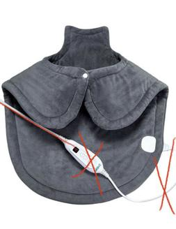 Large Heating Pad for Neck and Shoulders Pain Relief, Sable