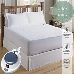 Serta Luxurious Sherpa Plush Heated Electric Mattress Pad Hy