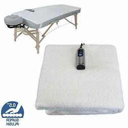 EARTHLITE Massage Table Warmer & Fleece Pad  - 3 Heat Settin