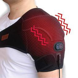 CREATRILL Massaging Heated Shoulder Wrap Brace, Shoulder Hea