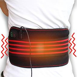 Creatrill Massaging Heated Waist Belt Wrap, Heat & Massage 3