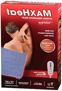 MaxHeat by SoftHeat Deluxe Heating Pad Moist/Dry, King Size,