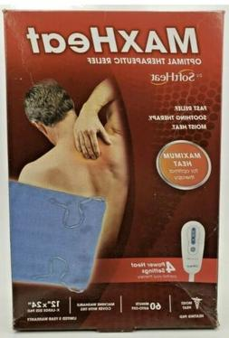"""MAXHEAT THERAPEUTIC RELIEF BY SOFTHEAT 4 POWER SETTINGS 12""""X"""