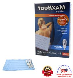 "MaxHeat Washable Heating Pad X-Large Size Pad 12"" x 24"" Fast"